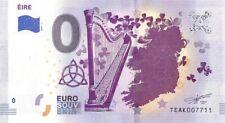 Commemorative 0 Euro Limited Edition Souvenir Banknote Symbols of Éire (Ireland)
