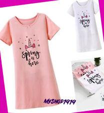 613f4cb720 Nachthemd Nachtkleid Mädchen Kinder Yachtswomen Sleepshirt Kurzarm Sommer  92-152