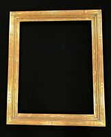"2"" Wide 15 1/4"" x 19 1/4 "" Hand Carve Picture Frame Gilded In Genuine 22k Gold"