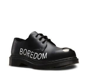 Dr Martens 1925 Sex Pistols Punk Themed Black Leather Shoes Steel Toe Cap Shoe