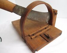 Antique Primitive 1800's RARE General Store Wood Cheese Meat Slicer Chopper
