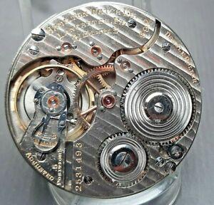Good 16s 21 jewel Hamilton 992  Pocket Watch Movement Running Well   - 21j