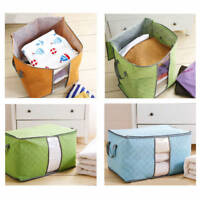 Portable Foldable Storage Bag Clothes Blanket Quilt Closet Nonwoven Organizer