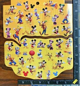 MICKEY MOUSE, MINNIE MOUSE, 1 SHEET (CUT IN TWO PARTS) BEAUTIFUL STICKERS #MOUSE