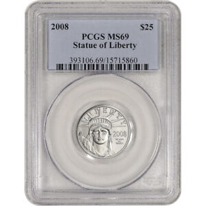 2008 American Platinum Eagle 1/4 oz $25 - PCGS MS69
