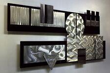 Large Modern Black & Silver 3D Metal Wall Art Sculpture Hanging -Winter Storm II