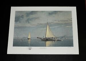 John Barber - Dawn On The Choptank -  A/P - Hand Remq. - Nautical Print