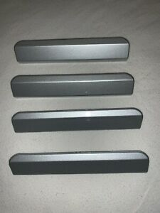INFINITI JX35 QX60 SUV OEM (SET OF 4) ROOF RAIL CROSS BAR CAP TRIM COVER, SILVER