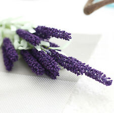 Home Decoration Wedding Silk Flowers High Simulation 12 Heads Lavender Bouquet