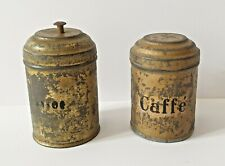 Tolles Paar alter Vorratsgefäße - Puppenstube / Puppenhaus - Blech - um 1900