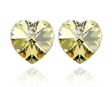 18k Gold Plated Made with Swarovski Crystals Wedding Bridal Studs Earring XE29