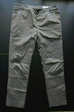 BRUNELLO CUCINELLI CLASSIC SLIM TAPERED LEG COTTON CHINO DESIGNER PANTS SIZE: 56