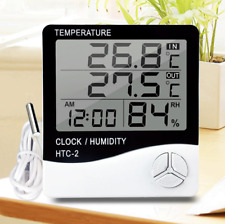 Htc 2 Digital Thermometer Hygrometer With Probe Electronic Temperature Humidity