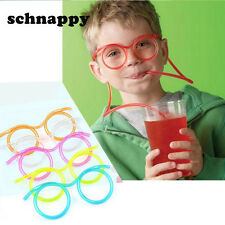Fun Soft Plastic Straw Funny Glasses Flexible Drinking Toys Party Joke Tube Tool