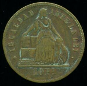 CHILE BRONZE BUTTON TOKEN TYPE COIN OF 10 PESOS KM# 145 MADE IN GERMANY - RARE