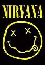 Nirvana Alternative Rock Grunge Smiley Face Fabric Poster Wall Banner Flag New