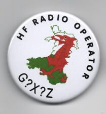 Radio Amateur/HAM Call Sign Button Badge, 59mm. Your Call Sign. Wales