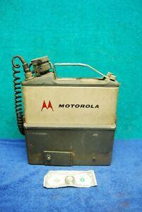 Vintage Motorola Handie Talkie FM Radio Phone Military Surplus Turner Microphone