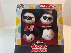 DISNEY TARGET EXCLUSIVE Mickey & Minnie Plush TSUM TSUM Set
