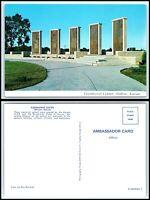 KANSAS Postcard - Abilene, Eisenhower Center, Memorial Pylons BX