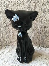 Lucky Black Cat Ceramic Figurine Animal Lover Crazy Cat Lady Gift