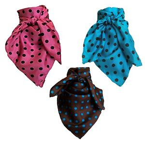 Wyoming Traders Polka Dot Wild Rag 34 Inch Scarf Bandana Multiple Colors