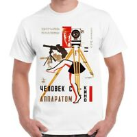 Man with A Movie Camera Soviet Movie Retro T Shirt 116