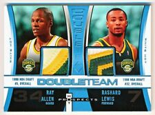 2006-07 Hot Prospects Ray Allen & Rashard Lewis  Double Team White Patch (06/10)