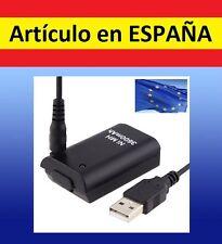 1x Batería negra MANDO XBOX 360 3600mAh cargador por USB Recargable battery PACK