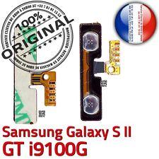 ORIGINAL Samsung Galaxy S2 GT i9100G Nappe Bouton Volume à souder Contacts Dorés