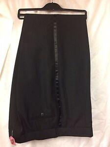Mens Black Tuxedo Dinner Trousers sizes 28 30 32 34 36 38