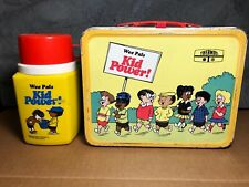 Vintage Wee Pals Kid Power!   1973   Metal Lunch Box and Plastic Thermos