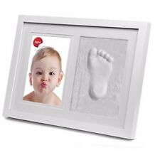PORTAFOTO+IMPRONTA Star Baby 13x18 bianco+spazio per calco manine/piedini bimbi