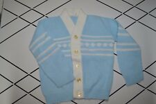 VINTAGE Baby Boy Mint 6 months Cardigan sweater SOFT