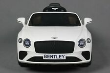 12V Bentley Continental Gt Kids Electric Ride on Car w/Mp3,Aux,Led - White