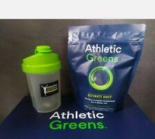 Athletic Greens Ultimate Daily Powder supplement 360g bag 04/21 + shaker bottle
