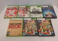 Lot Of 7 Microsoft XBOX 360 Video Games - Original Cases - Very Good Condition