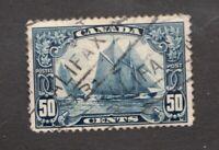 #158  - Canada -  1928  -  50 Cent  - Used  -   F/VF - superfleas
