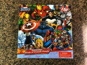 NEW & SEALED MARVEL HEROES 150 PIECE CIRCLE OF FRIENDS LENTICULAR PUZZLE