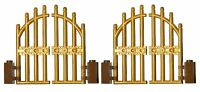 LEGO GOLD gate (pack of 2) for princess castle house palace fence door