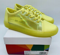 Katy Perry Women's The Goodie Iridescent Semi-Sheer Sneakers - Lemon Drop US 7M