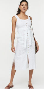 Bnwt White Broderie Square Neck Dress From Next. Size 22.Rrp £38