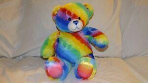 Build-a-Bear Workshop Rainbow Peace Bear With Blue Eyes Plush Stuffed Animal