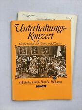 Noten. Unterhaltungs-Konzert. Gr. Erfolge für Violine & Klavier.   Mit Stimme.