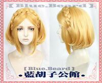 The Legend of Zelda Breath of the Wild Princess Anime Cosplay Costume Wig +CAP