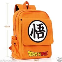 ANIME Dragon Ball Z Shoulder BAG SCHOOL BACKPACK Son Goku Orange Canvas GIFT