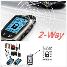 2 Way Car Alert Security Anti-theft System & 2*LCD Super Long Distance Controler