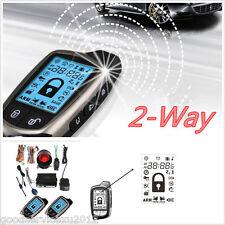 2 Way Car Alert Security Anti-theft System & 2*LCD Super Long Distance Controler