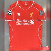 Authentic Warrior Liverpool 2014/15 CL Home Jersey. Size S, Fair Condition.