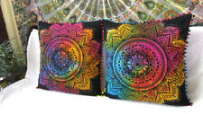 """2 Pcs Set Of 24"""" Pillow Cover Floral Multicolored Sofa Decorative Cushion Covers"""